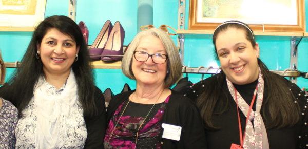 5 volunteers in a Princess Alice Hospice shop