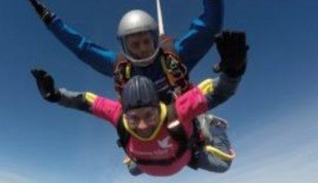 A tandem skydive