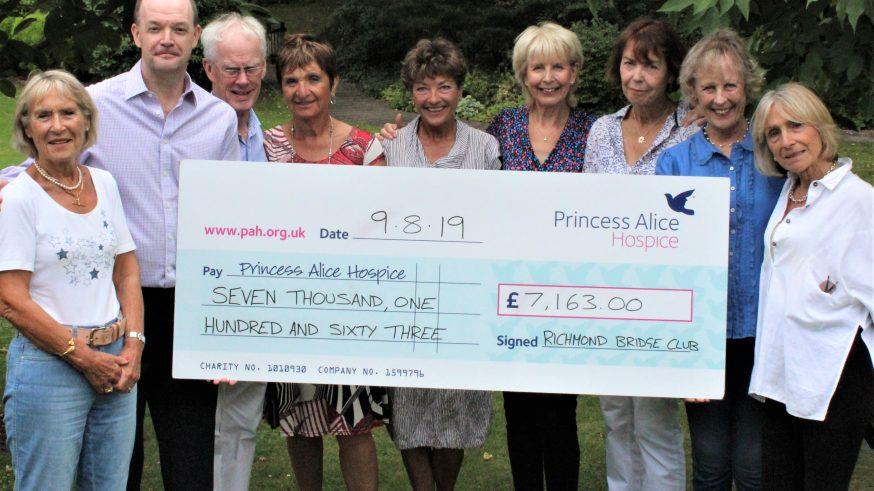 Richmond bridge club cheque for £7,163