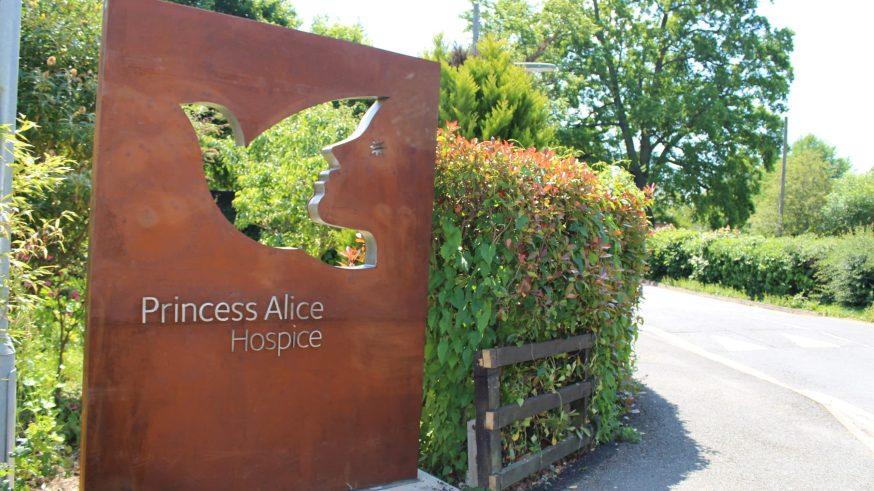 Princess Alice Hospice entrance sign